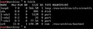 Arch completed disk config lsblk