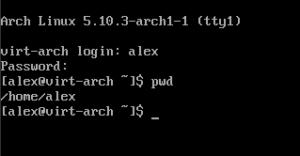 arch first user login